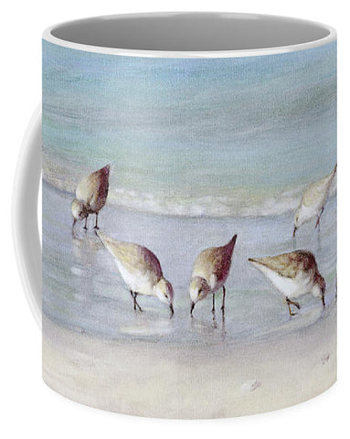 Breakfast On The Beach, Snowy Plover Sandpipers, Siesta Key - Mug