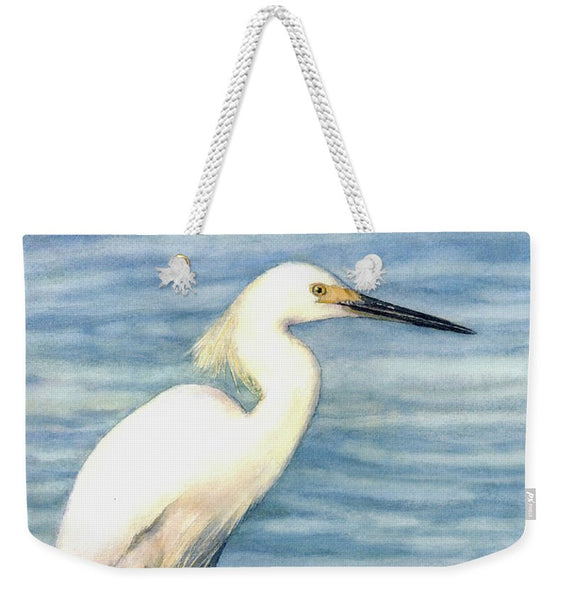 Snowy White Egret On Siesta Key - Weekender Tote Bag