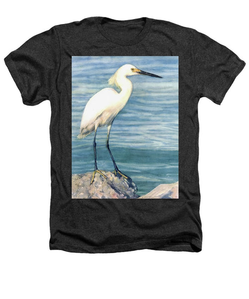Snowy White Egret On Siesta Key - Heathers T-Shirt