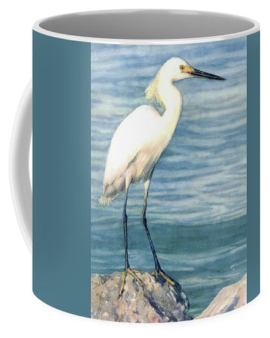 Snowy White Egret On Siesta Key - Mug