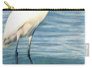 Snowy White Egret On Siesta Key - Carry-All Pouch