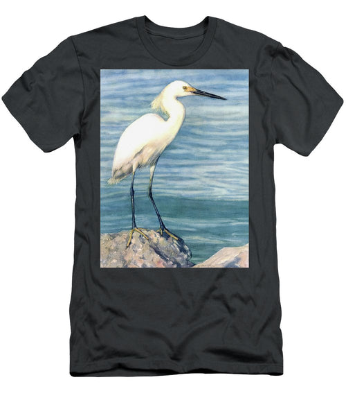 Snowy White Egret On Siesta Key - Men's T-Shirt (Athletic Fit)