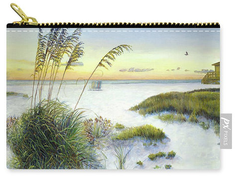 Sunset And Sea Oats At Siesta Key Public Beach - Carry-All Pouch