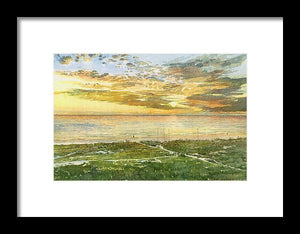 Sunset On Hobie Cat Beach, Siesta Key, Access 8 - Framed Print
