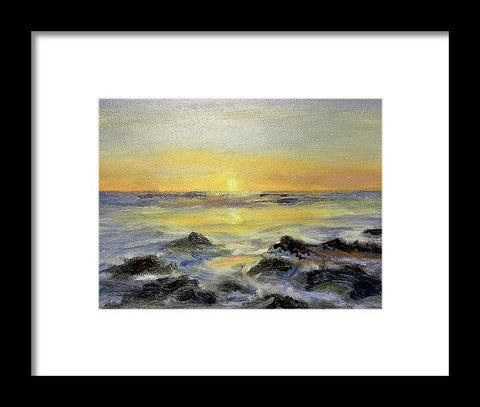 Sunset Over Point Of Rocks, Siesta Key - Framed Print