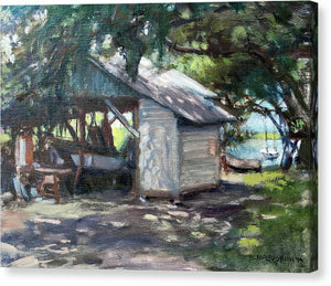 The Boathouse At Historic Spanish Point Park, Osprey, Fl - Canvas Print