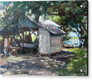 The Boathouse At Historic Spanish Point Park, Osprey, Fl - Acrylic Print
