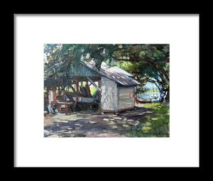 The Boathouse At Historic Spanish Point Park, Osprey, Fl - Framed Print