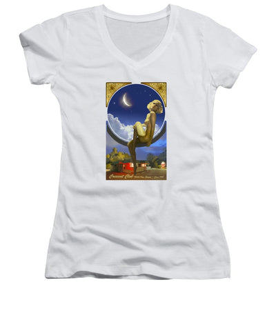 The Crescent Club Poster Without Logo - Women's V-Neck