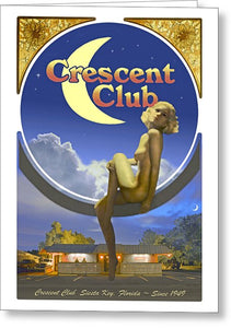 The Crescent Club, Siesta Key - Greeting Card