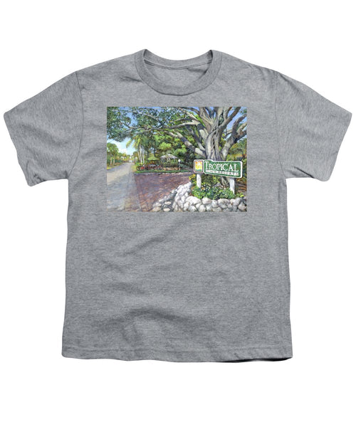 Tropical Beach Resorts - Youth T-Shirt