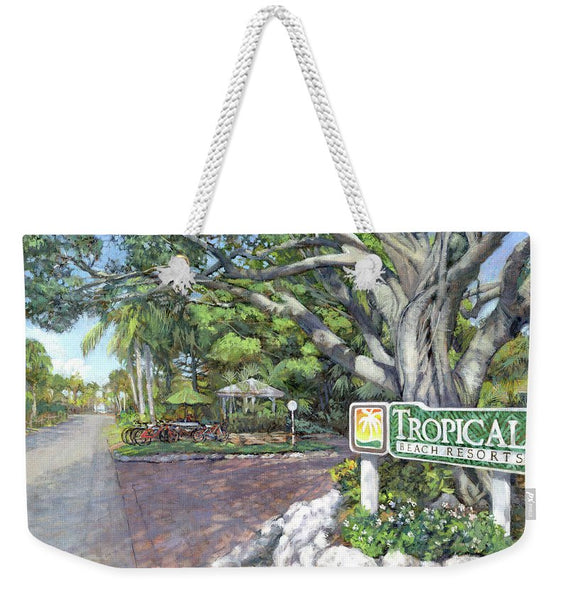 Tropical Beach Resorts - Weekender Tote Bag