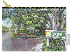 Tropical Beach Resorts - Carry-All Pouch