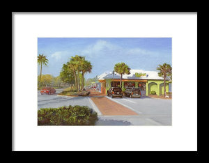 Village Cafe, Siesta Key - Framed Print