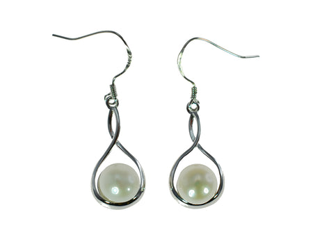 Freshwater Pearl Earrings Silver