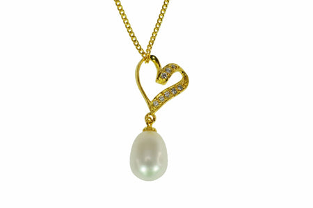 FreshwaterPearl 8.5-9mm Heart Gold