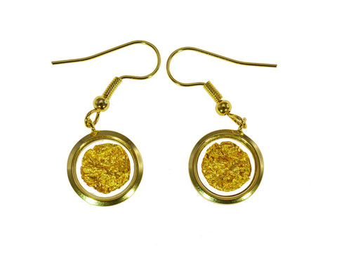 Gold Filled Earring Round On Hook