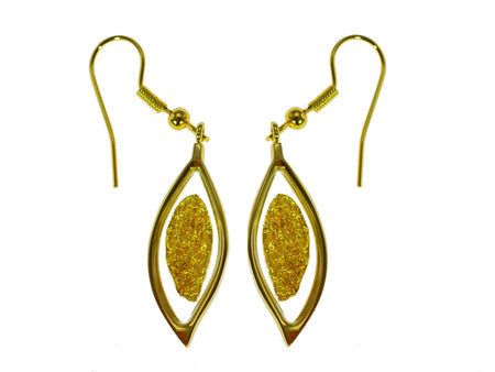 Gold Filled Earrings Leaf On Hook