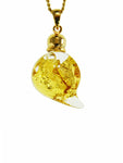 Glass Gold Leaf Shape Pendant