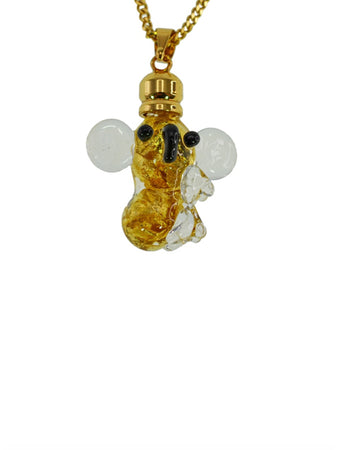 Glass Gold Koala Pendant