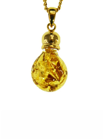 Glass Gold Bulb Shape Pendant