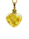 Glass Gold Small Heart Pendant