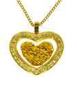 Gold Crystal Heart Pendant