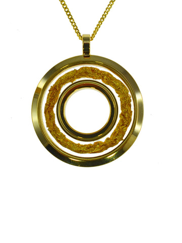 Gold Filled Donut Pendant