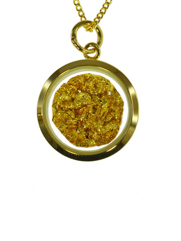 GOLD PENDANT SMALL ROUND