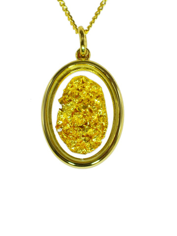 Gold Filled Oval Pendant