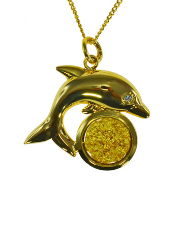 Gold Pendant Dolphin