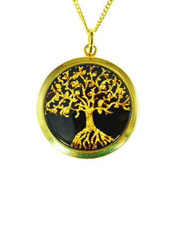 Gold Leaf Pendant Tree Of Life