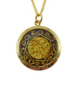 Gold Pendant Celtic Ring