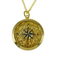 Gold Leaf Pendant Compass