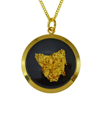 Gold Pendant Map Of Tasmania