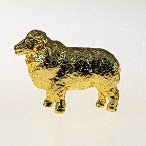 Gold Plated Figurine - Ram In Pouch
