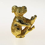 Gold Plated Figurine - Koala In Pouch