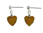 Iron Ore Earrings Heart