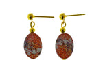 Iron Ore Earrings Oval