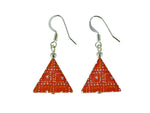 Iron Ore Earrings Triangle
