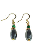 Iron Ore with Malachite Earring