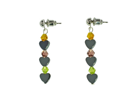 Iron Ore Crystal Earring