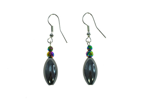 Iron Ore Rice Dangle Earring