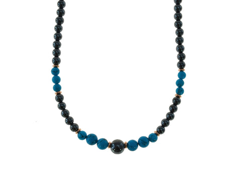 Iron Ore Necklace with Turquoise