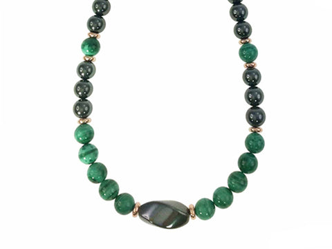 Iron Ore Necklace Fancy Green