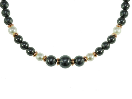 Iron Ore Pearl Necklace