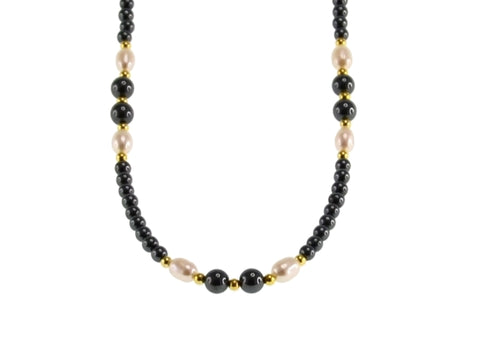 Iron Ore Freshwater Pearl Necklace 50cm