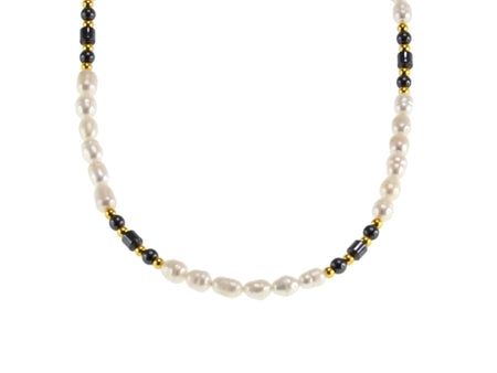 Iron Ore-Freshwater Pearl 45cm Necklace