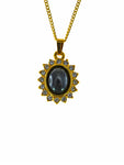Iron Ore Gold Princess Diana Pendant