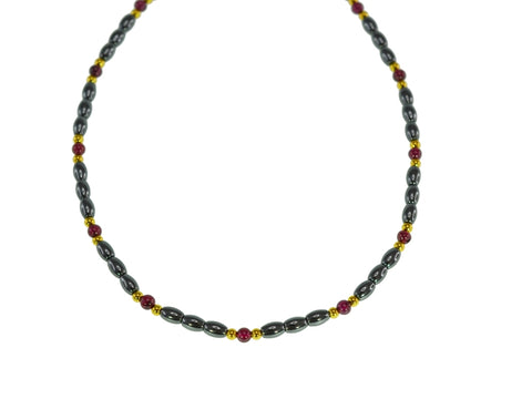 45cm Iron Ore Garnet Necklace